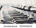 modern gym interior with... | Shutterstock . vector #553440241