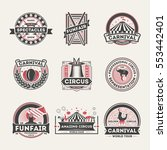 circus vintage isolated label... | Shutterstock .eps vector #553442401
