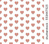 broken heart design pattern... | Shutterstock .eps vector #553447525