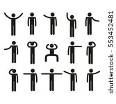 stick figure set | Shutterstock .eps vector #553452481