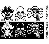 jolly roger  pirate attributes  ... | Shutterstock .eps vector #55345456