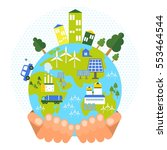 eco business friendly concept.... | Shutterstock .eps vector #553464544