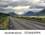 road in iceland leading into... | Shutterstock . vector #553464994