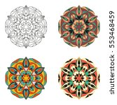 mandala. vector image.... | Shutterstock .eps vector #553468459