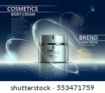 cosmetics for body cream. jar... | Shutterstock .eps vector #553471759