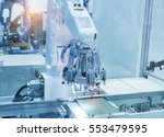 artificial intelligence machine ... | Shutterstock . vector #553479595