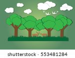 deer in the forest vector on... | Shutterstock .eps vector #553481284