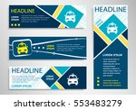 taxi icon on horizontal and... | Shutterstock .eps vector #553483279
