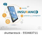 insurance protection info text... | Shutterstock .eps vector #553483711