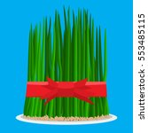 nowruz holiday grass semeni on... | Shutterstock .eps vector #553485115