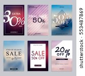 sale website banners web... | Shutterstock .eps vector #553487869