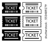 paper ticket symbol black white ... | Shutterstock .eps vector #553489279