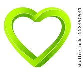 raster image of green hearts on ... | Shutterstock . vector #553490941