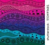 african hand drawn ethno...   Shutterstock .eps vector #553495681