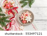 christmas gingerbread cookies... | Shutterstock . vector #553497121