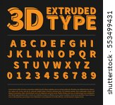 3d extruded type set with... | Shutterstock .eps vector #553499431