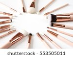 professional makeup brushes set | Shutterstock . vector #553505011