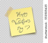 paper sheet on translucent... | Shutterstock .eps vector #553505635