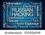 russian hacking word cloud on... | Shutterstock . vector #553506049