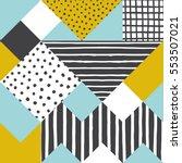 geometric background. vector... | Shutterstock .eps vector #553507021