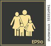 happy family icon in simple... | Shutterstock .eps vector #553514941