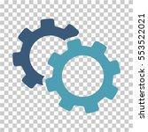 gears icon. vector pictograph... | Shutterstock .eps vector #553522021