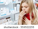 this flu is getting to her.... | Shutterstock . vector #553522255