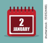 calendar with 2 january in a...