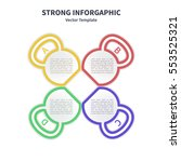 vector infographic colorful... | Shutterstock .eps vector #553525321