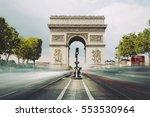 famous avenue champs elysees... | Shutterstock . vector #553530964