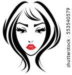 illustration of women long hair ...   Shutterstock .eps vector #553540579