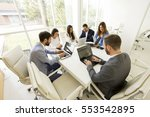young business people having... | Shutterstock . vector #553542895