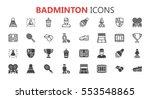 simple modern set of badminton... | Shutterstock .eps vector #553548865