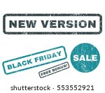 new version rubber seal stamp... | Shutterstock .eps vector #553552921