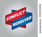 conflict resolved arrow tag... | Shutterstock .eps vector #553553545