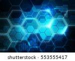 digital conceptual gradiented... | Shutterstock . vector #553555417
