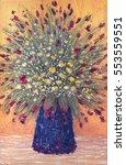 bright acrylic handmade scene...   Shutterstock . vector #553559551