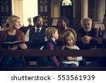 church people believe faith... | Shutterstock . vector #553561939