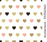 seamless background hearts.... | Shutterstock .eps vector #553562461