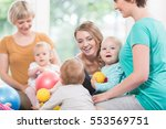 young women in mother and child ... | Shutterstock . vector #553569751