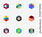 modern colorful abstract vector ... | Shutterstock .eps vector #553575094