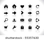 black icons for web | Shutterstock .eps vector #55357630