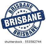 brisbane. stamp. blue round... | Shutterstock .eps vector #553582744