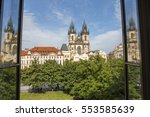 the famous church of our lady... | Shutterstock . vector #553585639