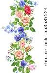 floral border  vertical... | Shutterstock . vector #553589524