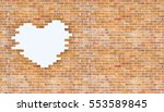 love valentines day and brick... | Shutterstock . vector #553589845