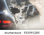 Blurred Silhouettes Of Cars...