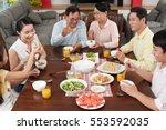 big asian family enjoying...   Shutterstock . vector #553592035
