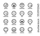 set of black flat symbols about ... | Shutterstock .eps vector #553592065