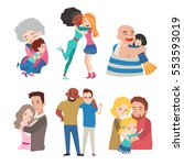 friends hugging set of vector... | Shutterstock .eps vector #553593019